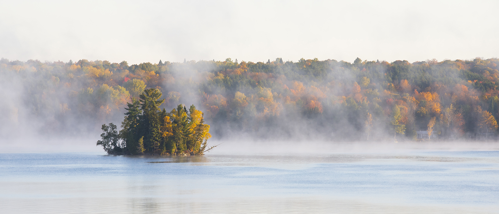 Chandos Lake with mist