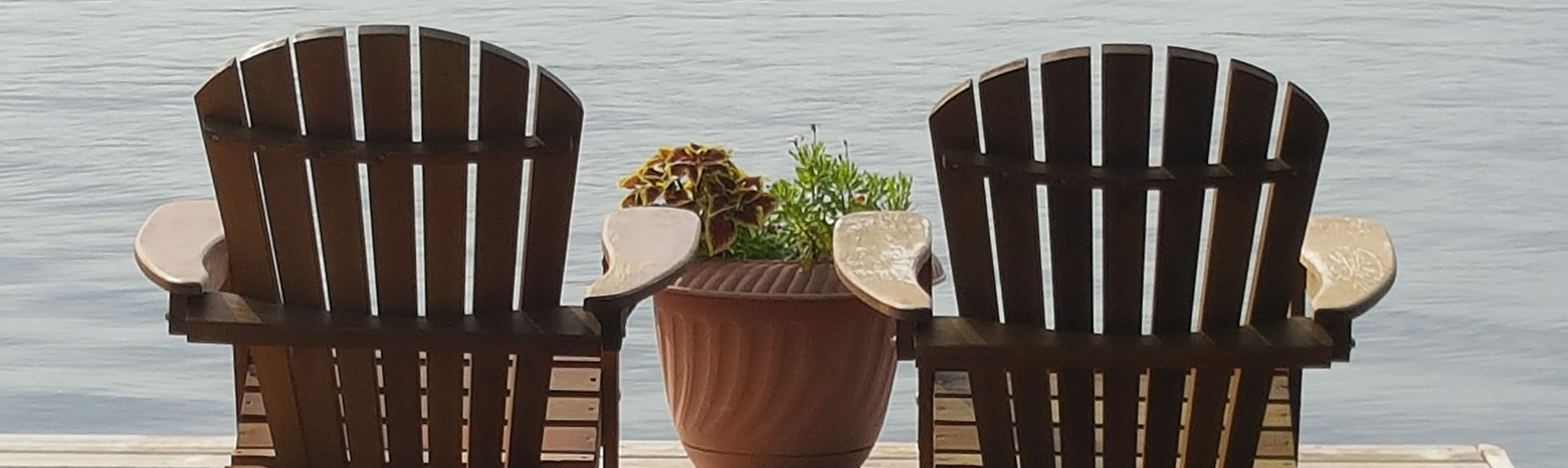 chairs on a deck