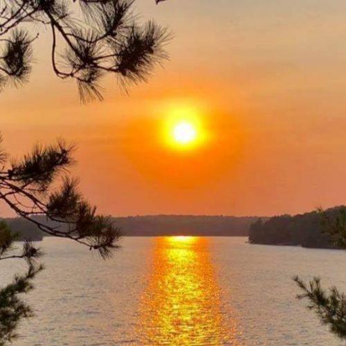 Sunset at Chandos Lake